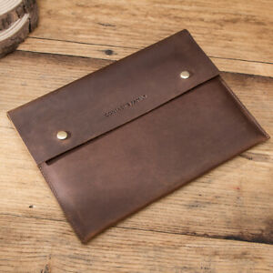 Genuine Leather Sleeve Bag Portable Case For iPad Pro 11 9th 8th 10.2 Air 10.9