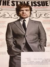 PETER  DINKLAGE Esquire Magazine March 2014 Man of Style