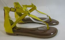 Summer Yellow Womens Shoes Roman Gladiator Sandals Size 6.5