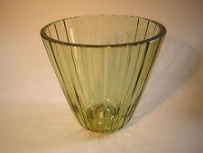 Glas Vase Art Deco Schliff  VLG Weißwasser Wagenfeld 1937 groß !