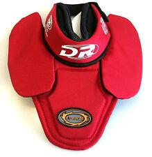 New DR PGG intermediate goalie bib throat guard medium neck protector hockey red