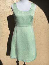 Shoshanna A Line Dress Women's Size 6 Aqua Mint Metallic Princess Seam NWT