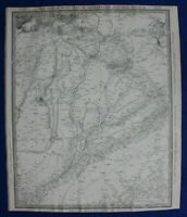 PUNJAB, INDIA, KASHMIR, PAKISTAN, original antique map, SDUK, 1844