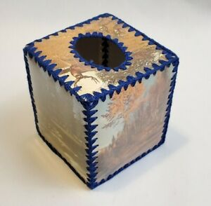 Vintage Greeting Card Tissue Box Cover Crochet