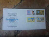 1983 NEW ZEALAND  COMMONWEALTH SET OF 4  FIRST DAY COVER