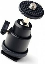 Eggsnow 1/4 Mini Ballhead Camera Ball Head Tripod Mount With Hot Shoe Adapter