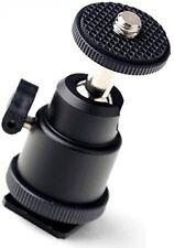 Eggsnow 1/4 Mini Ballhead Camera Ball Head Tripod Mount With Hot Shoe Adapter
