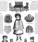 MODE ILLUSTREE SEWING PATTERN Dec 9,1883 DOLL clothing patterns