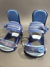 Burton Custom Snowboard Bindings Blue Size Large Made In Italy NICE