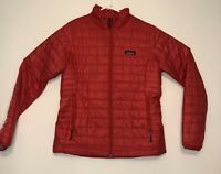 Women's Patagonia Red Nano Puff Primaloft Sweater Jacket Large