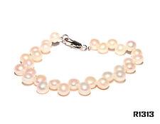 Echt Süßwasser Zucht Perlenkette Armband Armkette Armreifen 18cm R1313