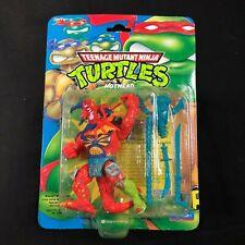 """Vintage 1992 Teenage Mutant Ninja Turtles TMNT """"Hothead"""" Rare HTF Blue Card MOC"""
