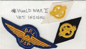 O.R.I. U.S.N. WWII Patch lot  , Lt. Paul MacAlister - Industrial Designer Design