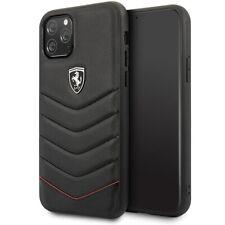 IPhone 11 par Max Housse portable Ferrari Heritage Housse en cuir/Hard Cover Noir