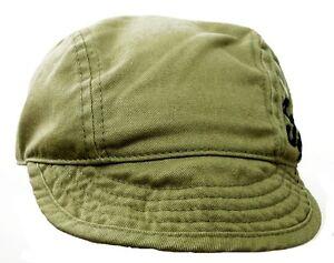 Short Floppy Bill Fila Khaki Baseball Cap 100% Cotton-Size Medium 56-57 cm