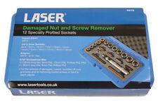 Laser Damaged Stubborn Nut & Bolt Removal Tool AF & Metric Sizes 12 Sockets 6219