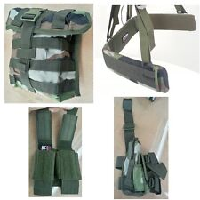 CLEARANCE - French Paratroop Molle Belt/Pistol/Pouches CE Camo - NEW by Arktis