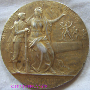 MED9241 - Medaglia Prezzo Della Tiro Dipartimento Guerra IN Argento Dorato Prud