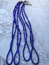 beaded ankle to toe bracelets Brand new, adjustable handmade, beautiful blue