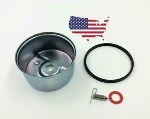 Tecumseh 631867 Carburetor Float Bowl & 631021B Needle & Seat Kit OEM