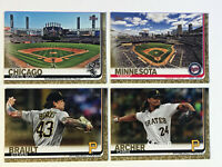 Topps Series 2 (4) Card Lot Gold Parallel /2019 Baseball Cards Archer SP
