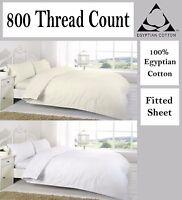 800 Thread 100% Egyptian cotton Duvet Cover Pillow Case Single double King size