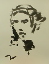 JOSE TRUJILLO - Contemporary Art ABSTRACT EXPRESSIONISM INK WASH Portrait Sketch