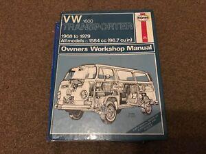 VW Transporter 1600 1.6 Petrol 1968-79 0082 up to V Reg Haynes Manual