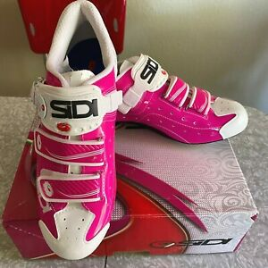 New Sidi Women's Alba Road Cycling Bike Shoes Bike Pink Sz 41 Eu 8.75 Us in Box