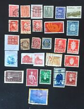 NORWAY USED MIXED POSTAGE STAMPS X 28