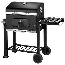 Barbecue au charbon de bois grill fumoir smoker bbq wagon 115 x 65 x 107 cm
