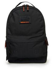 Superdry Embossed Hollow Montana Backpack Bag Black Marl AZB