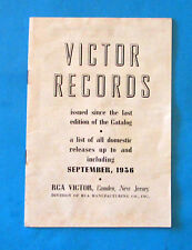 VICTOR RECORD Catalog 1936 - records issued since last catalog - record numbers