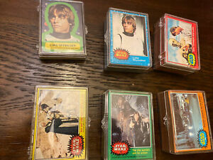 1977 Star Wars 1-5 Complete Card/Stickers Sets (330/55)- High Grade!! Mint