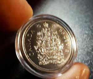 CANADA 2018 50 Cent Coin 🍁💲 In CAPSULE; Briliant UNC 💲🍁