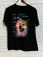 Doge Funny Space Mens T Shirt Black Size Large