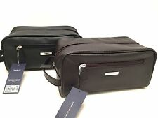 Tommy Hilfiger Men's Toiletry Case Shaving Kit *Black or Brown Travel/Dopp Bag