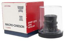Leica Leitz Leicina 10mm F1.8 Macro-Cinegon Lens with Leica M mount. Box