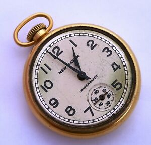 Vintage USA Made Art Deco Mechanical   Pocket Watch  New Haven