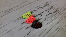 B22. 3 JC Spinners 6g #2 Different Hook Attachment Single & Treble Hooked Lures