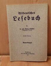 Altdeutsches Reading Book Dr.Philharmoniker Georg Schübel Studiendirektor