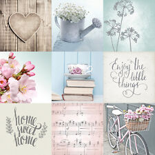 LAZY DAYS HOME SWEET HOME SHABBY CHIC BLUE PINK DESIGNER WALLPAPER MURIVA 102564