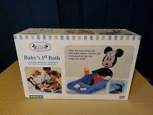Vtg Safety 1st Disney Mickey Mouse Baby Newborn Bath Tub Bathtub New In Box Rare