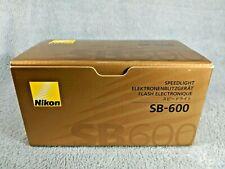 Nikon Speedlight SB-600 SB600 AF Shoe Mount Flash for Nikon w/Case Box Papers NM