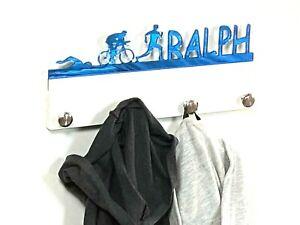 Personalized Coat Hanger Triathlon Rack Bag Towel Sweatshirt Hook Wall Organize