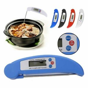 Digital Stainless Steel Electronic Food Thermometer Foldable Probe Meat BBQ