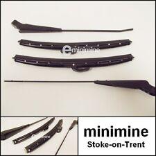 "Classic Mini BLACK Wiper Arm & 10"" Blade Set Push On Type MK1/2 Also LHD CZH4173"