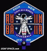 First ALL WOMEN SPACE WALK - ISS NASA ORIGINAL Tim Gagnon AB Emblem SPACE PATCH