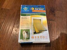 NEW PetSafe Extreme Weather Pet Door Medium PPA00-10985 1-40lb White 3 Flaps
