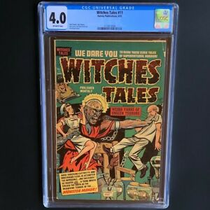 Witches Tales #11 (Harvey 1952) 💥 CGC 4.0 OW 💥 Rare Pre-Code Horror! PCH